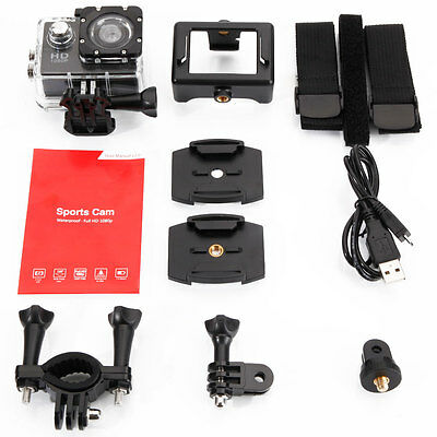 HD 1080P Sports DV Action  Camcorder Waterproof Bike Camera for SJ4000 Black