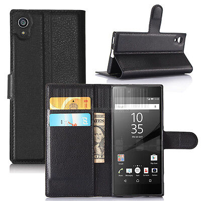 For Sony Xperia XA1 / Ultra PU Leather Flip Wallet Case Card Slots Pouch Cover