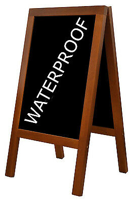 Wooden Blackboard Chalk Board A-Board Pavement Sign New Waterproof Code Heavy
