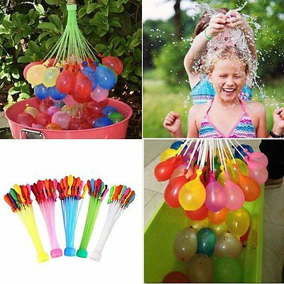 111 Water Balloons Bombs Multi Colour Kids Summer Party Fun Toys Bag Fillers New