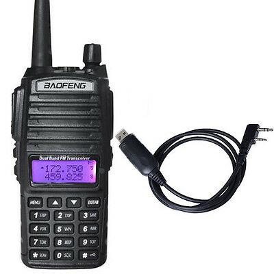 Canada Stock BAOFENG UV82 Walkie Talkie UV-82 Dual Band Two-Way Ham Radio+Cable