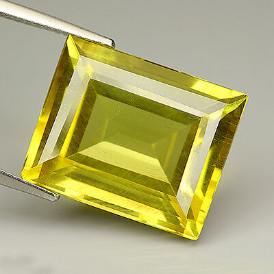 Lovely 18.72 Ct Natural Unheated Yellow APATITE Octagon Gem @ See Video !!