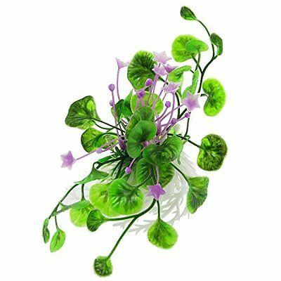 Sourcingmap Plastic Flowers Leaf Aquarium Fish Tank Plants Grass Purple/Green