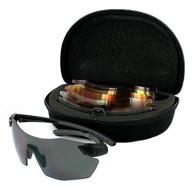 Evolution CHAMELEON Sports Shooting Sunglasses Wrap Style 4 Lens Set With Case
