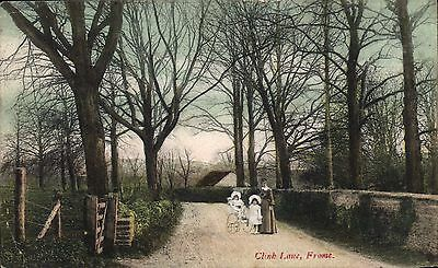 Frome. Clink Lane by H.C.Eames, Frome in Wilkinsons Series.