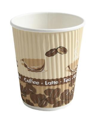 1000 Pappbecher Coffee to go Becher 0,3l Ripple Cups Kaffeebecher Trinkbecher