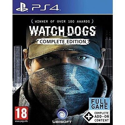 Watch Dogs Complete Edition Game PS4 - Brand New!