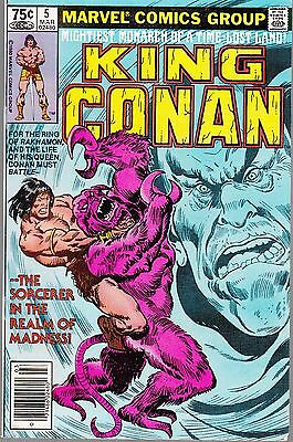 King Conan  #5  1980 Marvel  -Time Lost Land  Monarch/ Sorcerer....vf-