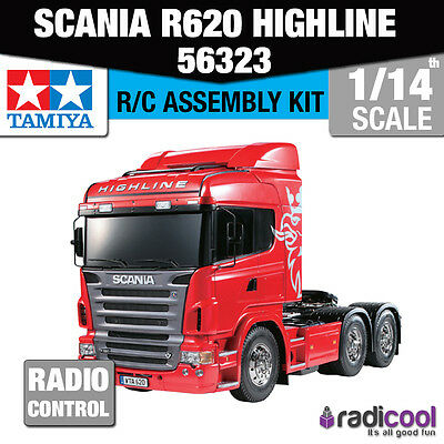 56323 Tamiya Scania R620 6x4 Highline 1/14th R/C Radio Control Assembly Kit
