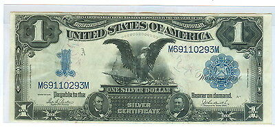 1899 One Dollar Large Silver Certificate Black Eagle Note - Cir