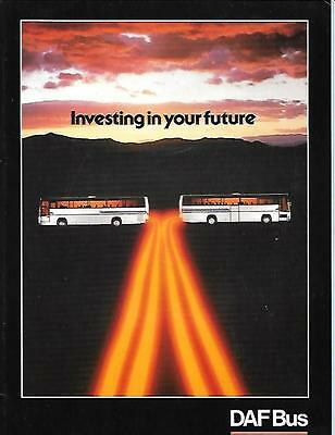 DAF SB AND MB  MODELS BUS COACH BROCHURE  EARLY 80's
