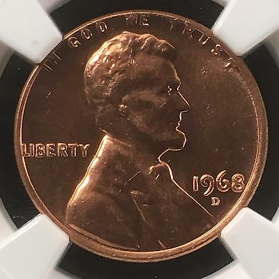 1968-D 1C RD Lincoln Memorial One Cent   NGC MS66RD           3585067-008
