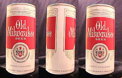 Old Milwaukee Beer - Mid 1970's - Tall 12Oz Foil Label Test Can - Longview Texas
