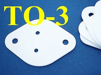 5, Ceramic TO-3 Sheets 29x42mm T1mm Insulator Pads Transistor Heat Sink