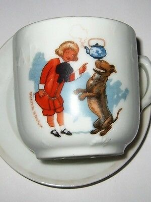 Rare ABC Mug Buster Brown and his Dog Tige Buster Brown Shoes Advertising Cup