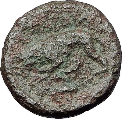 KARDIA THRACE 350BC Authentic Original Ancient Greek Coin PERSEPHONE LION i61323