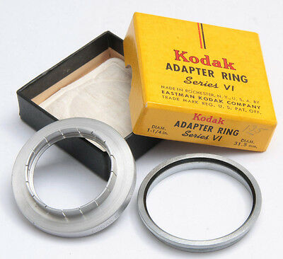 """Kodak 1 1/4"""" Push-on 21.5mm Series VI 6 Adapter Ring with Retainer - USED X683"""