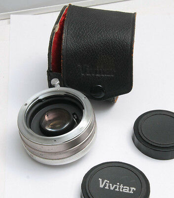 Vivitar 2x Tele-Converter - Good Glass w/Caps and Case - Japan - USED D93