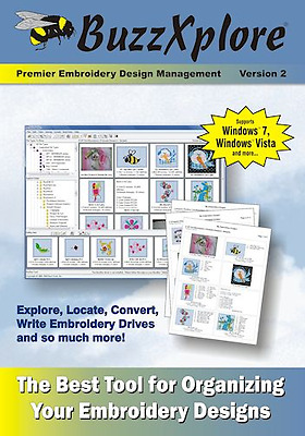 BuzzXplore v2 Premier Embroidery Design Management Software ~ NEW SEALED!