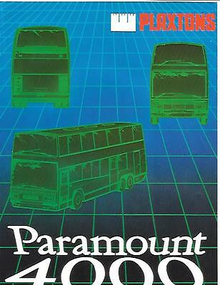 Plaxtons Paramount 4000 Bus Coach  Sales Brochure - Poster 1984