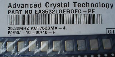 ACT EA3532LOEROFC-PF ACT753SMX-4  35.32 MHz Crystals