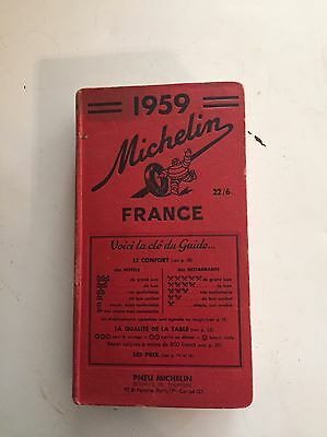 1959 Michelin Travel Guide (22/6) France