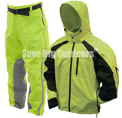 Frogg Toggs Kikker II 2017 Motorcycle Reflective Rain Safety Green Suit 2XL ***