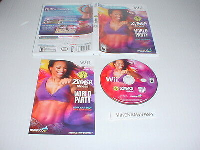 ZUMBA FITNESS: WORLD PARTY game complete in case w/ manual - Nintendo Wii