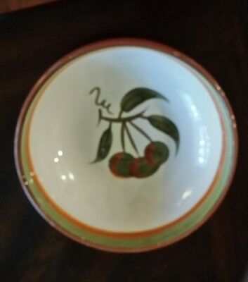 """VINTAGE STANGL Pottery Orchard Song pattern Round Serving Bowl - 8""""  2 1/2"""""""