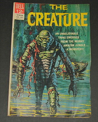 Vintage The Creature No 1 Aug-Oct 1964 2nd Printing Dell Monster Comic Book