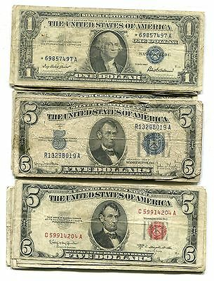 Lot of 33 Miscellaneous U.S. Notes