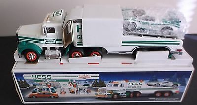 1991 Hess Toy Truck Collectible - Toy Truck & Racer - Lights & Racer Motor - NIB