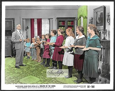 Clifton Webb Cheaper by the Dozen ORIGINAL 1950 Color Photo Jeanne Crain