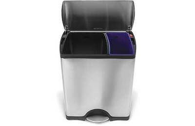 Simplehuman 46L Rectangular Recycle Bin - Stainless Steel -From Argos on ebay