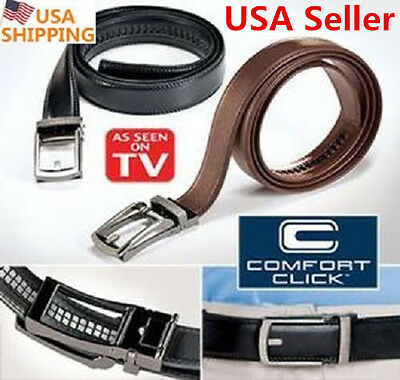 "NEW Comfort Click Belt for Men Automatic Lock Belt 28""-48"" As Seen on TV US SHIP"