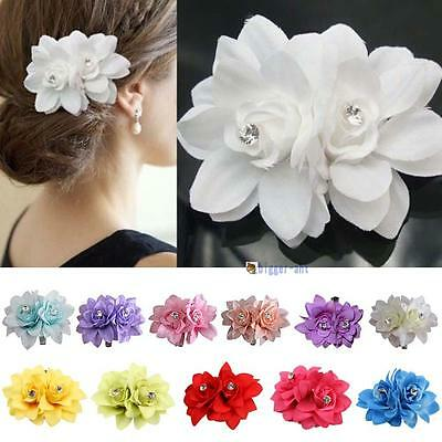 New Beauteous Hair Flower Clip Pin Bridal Wedding Prom Party for Girl Women #4
