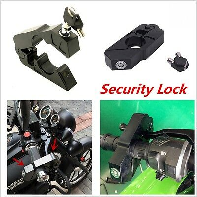Universal Motorcycle Handlebar Grip Brake Lever Anit Theft Security Caps-Lock CN