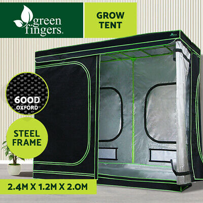 Greenfingers 2.4m x 1.2m x 2m Grow Tents Hydroponics Plant Tarp Shelves Kit
