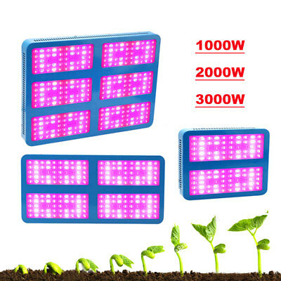 600W 1000W 2000W 3000W LED Grow Light Full Spectrum Organic Growing Bloom Indoor