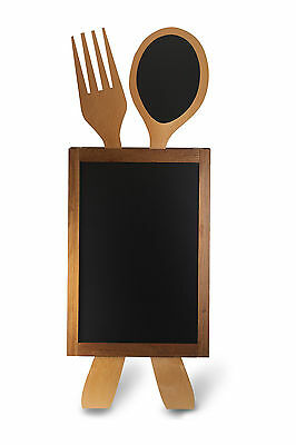 Wooden A-Board, Pavement Board, Blackboard Cutlery Shape Sign Restaurant Pub