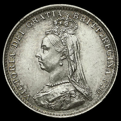 1887 Queen Victoria Jubilee Head Silver Threepence