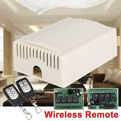 DC 12V 4CH Wireless Remote Control Relay Switch Transceiver + Receiver 315MHz #5