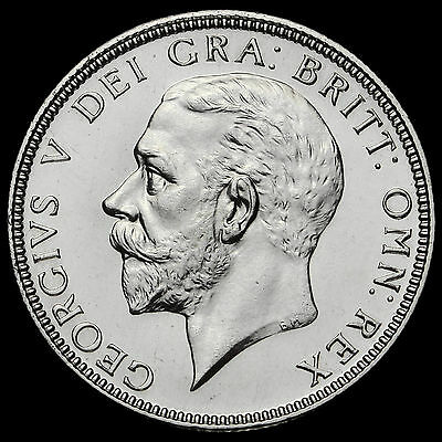 1927 George V Silver Proof Florin, Rare, aFDC