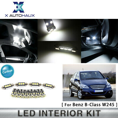 15 Bulbs Xenon White LED Interior Dome Light Kit For W245 2006-2011 Benz B-Class