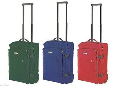 Carry On Suitcase Luggage Cabin Case Trolley 2 Wheel Travel Bag Carryon