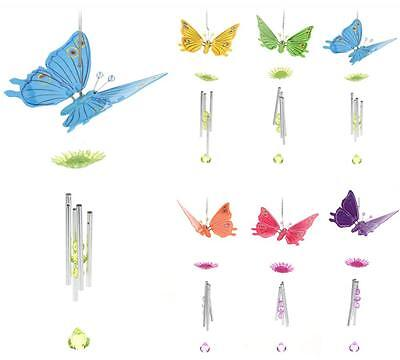 Hanging Plastic Butterfly Windchime Wind Chime Chimes Garden Decor Ornament