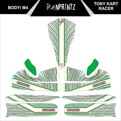 M4 Tonykart Racer 401 2015  Style Full Kart Sticker Kit For M4 Body - Karting