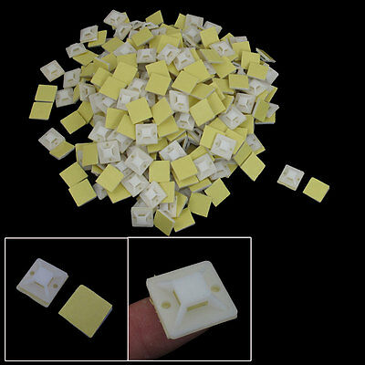 1000 Pcs Self Adhesive Cable Tie Mount Base Holder 20mmx20mmx7mm