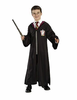Child Harry Potter Wizard Wand Glasses Robe Clasp Costume Accessory Kit Set