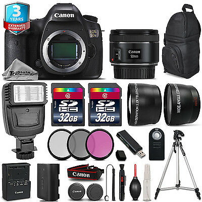 Canon EOS 5DS DSLR Camera + 50mm 1.8 + Flash + 64GB + Filter Kit +  2yr Warranty